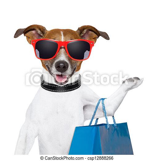 Ein Einkaufshund - csp12888266