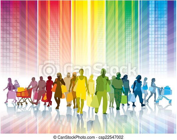 shoppen , kleurrijke - csp22547002