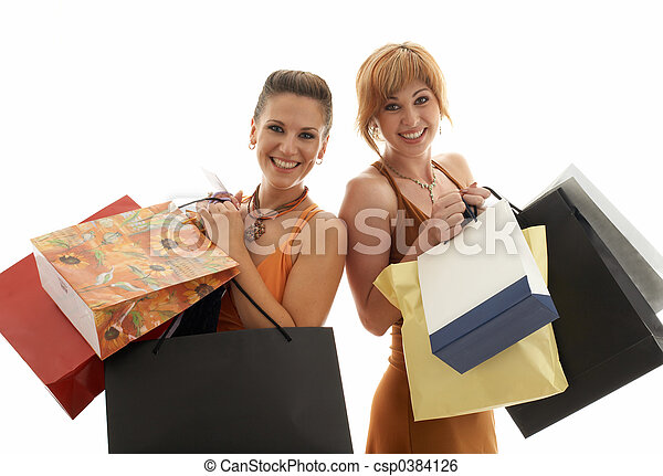 shoppen , meiden - csp0384126
