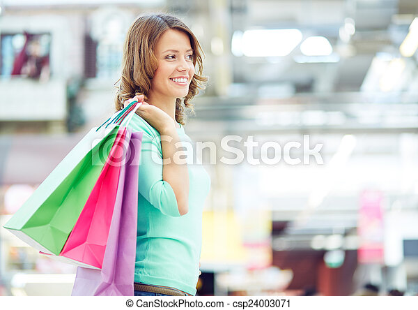 Shopper in the mall - csp24003071