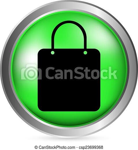 Shopping bag button - csp23699368