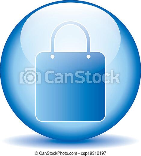 Shopping bag button - csp19312197
