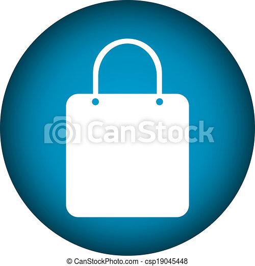 Shopping bag button - csp19045448