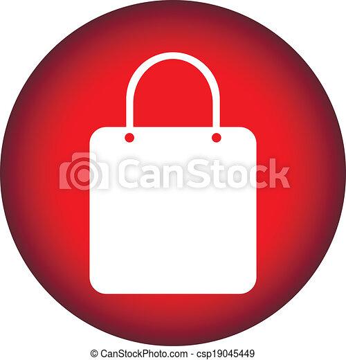 Shopping bag button - csp19045449