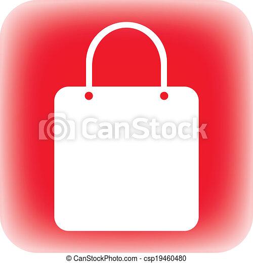 Shopping bag button - csp19460480
