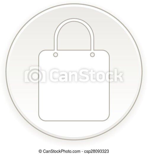 Shopping bag button. - csp28093323