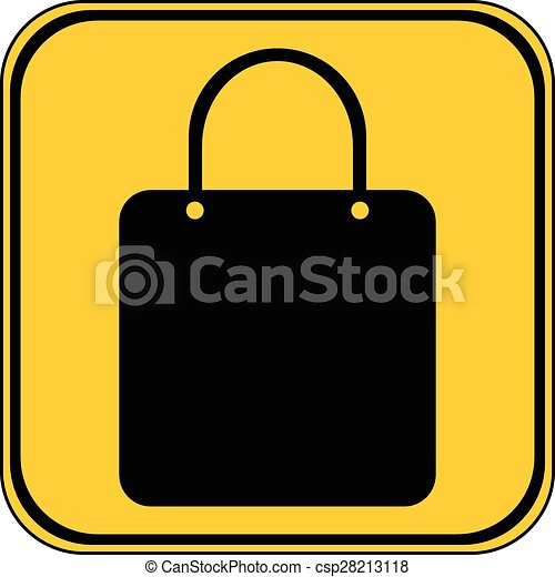 Shopping bag button. - csp28213118