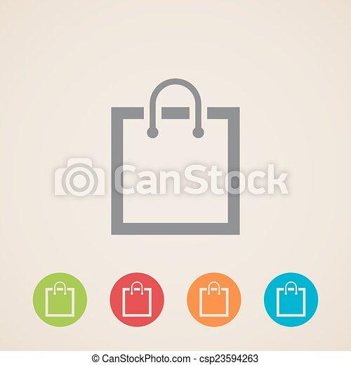 shopping bag icon - csp23594263