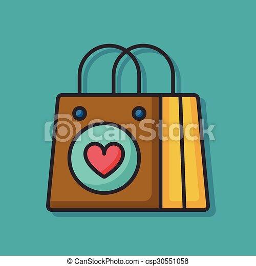 shopping bag icon - csp30551058