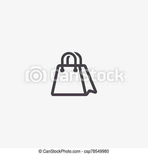 shopping bag icon - csp78549980