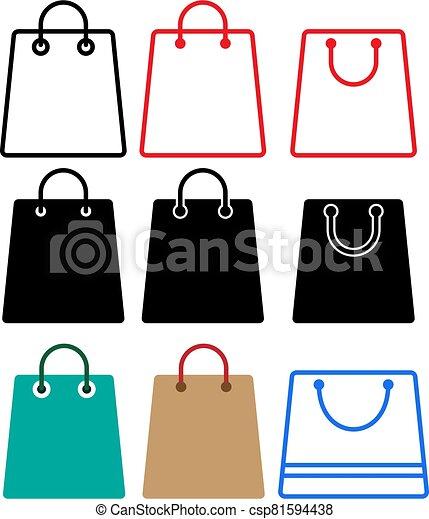 Shopping Bag Icon - csp81594438