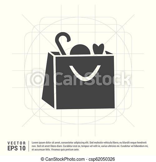 Shopping bag icon - csp62050326