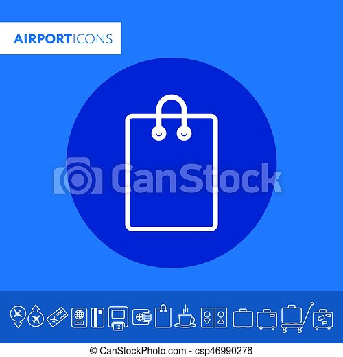 Shopping bag icon isolated on white. Vector. - csp46990278