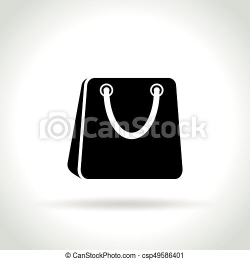 shopping bag icon on white background - csp49586401