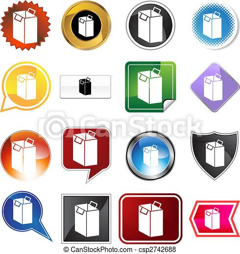 Shopping Bag Icon Set - csp2742688