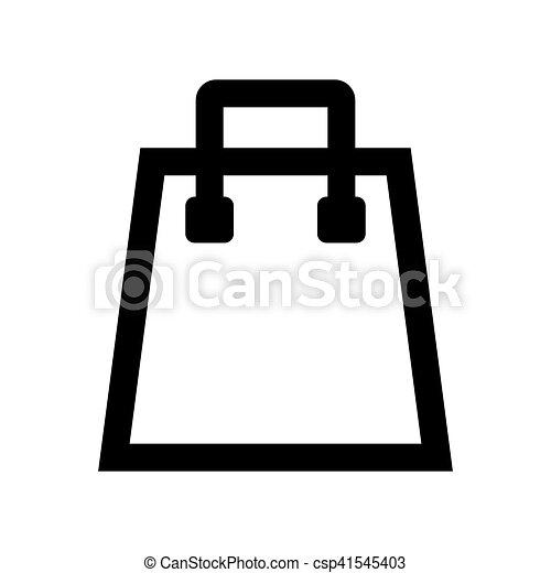 Shopping bag icon. - csp41545403