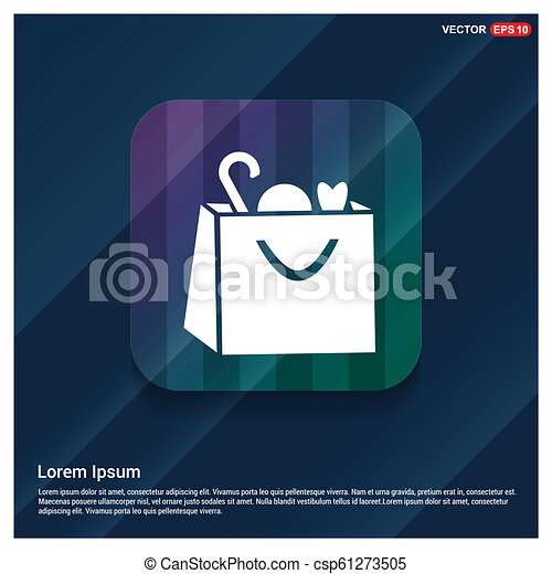 Shopping bag icon - csp61273505