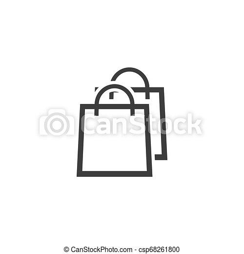 Shopping bag icon. - csp68261800