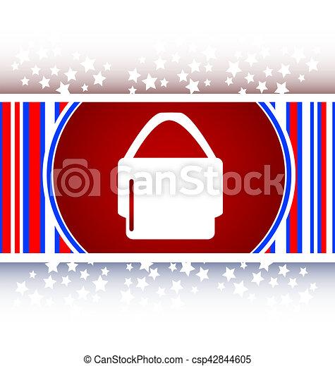shopping bag icon web button - csp42844605
