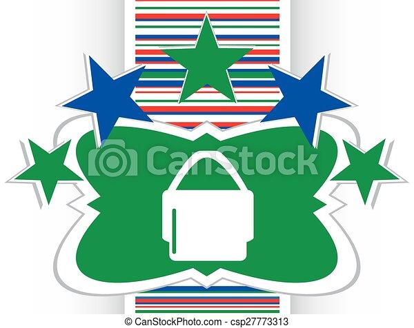 shopping bag icon web button - csp27773313
