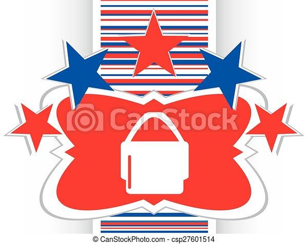 shopping bag icon web button vector - csp27601514