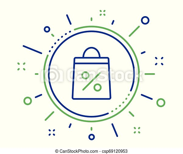 Shopping bag line icon. Supermarket buying sign. Vector - csp69120953