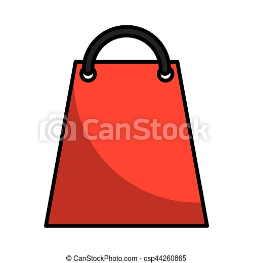 shopping bag paper isolated icon - csp44260865