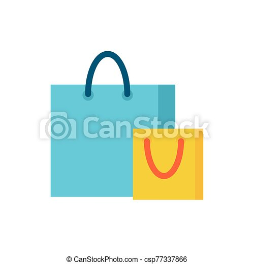 shopping bag paper isolated icon - csp77337866