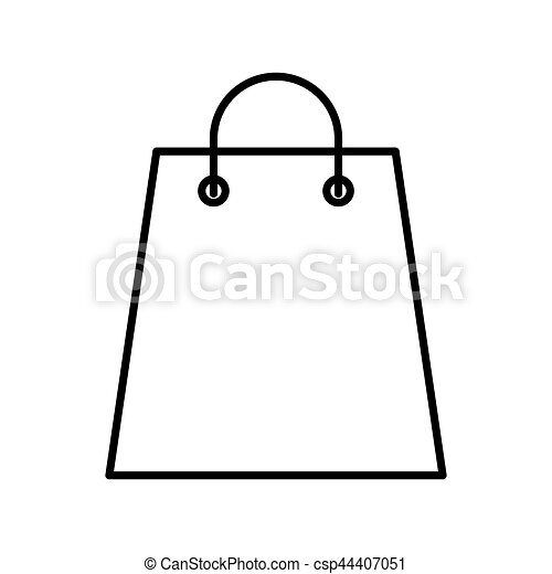 shopping bag paper isolated icon - csp44407051