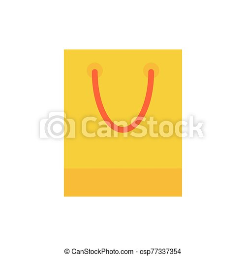 shopping bag paper isolated icon - csp77337354