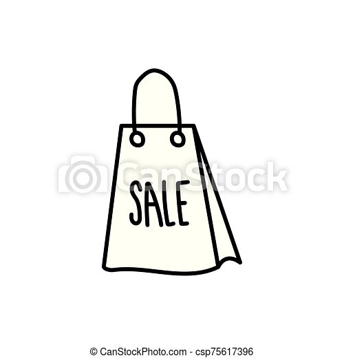shopping bag paper isolated icon - csp75617396