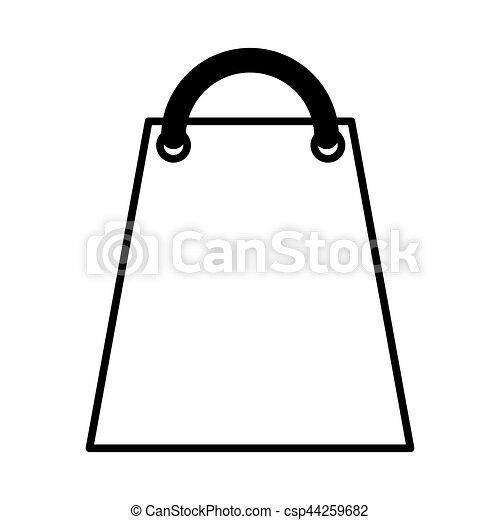 shopping bag paper isolated icon - csp44259682