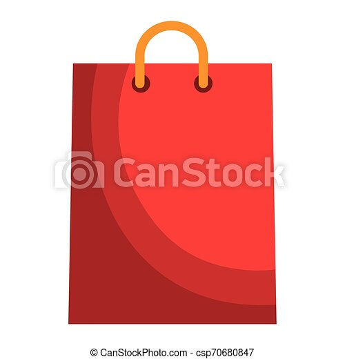 shopping bag paper isolated icon - csp70680847