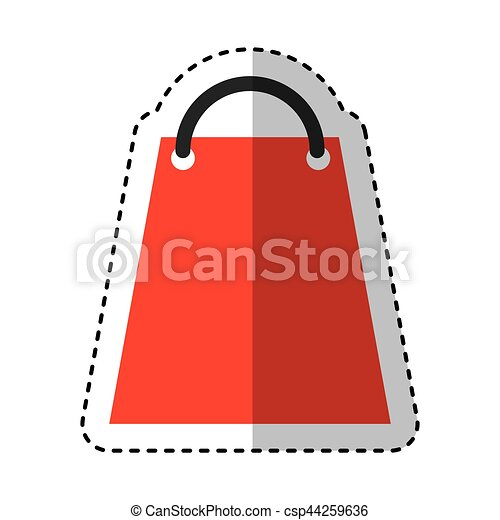 shopping bag paper isolated icon - csp44259636