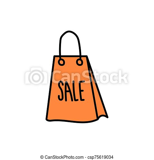 shopping bag paper isolated icon - csp75619034