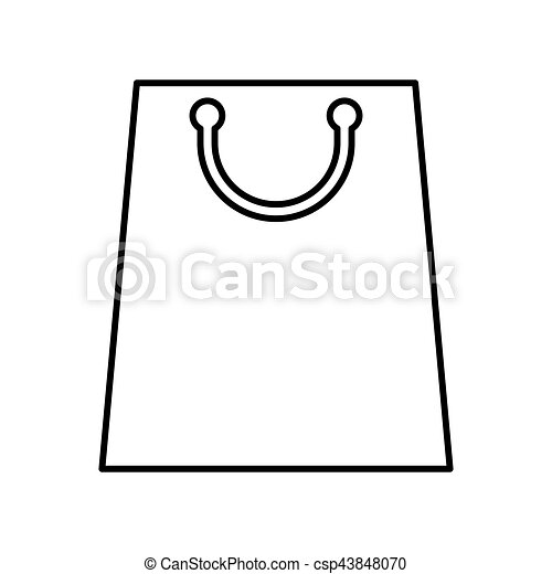 shopping bag paper isolated icon - csp43848070