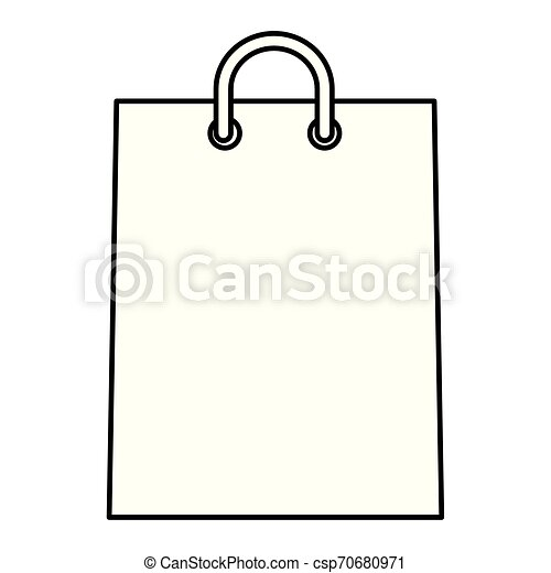 shopping bag paper isolated icon - csp70680971
