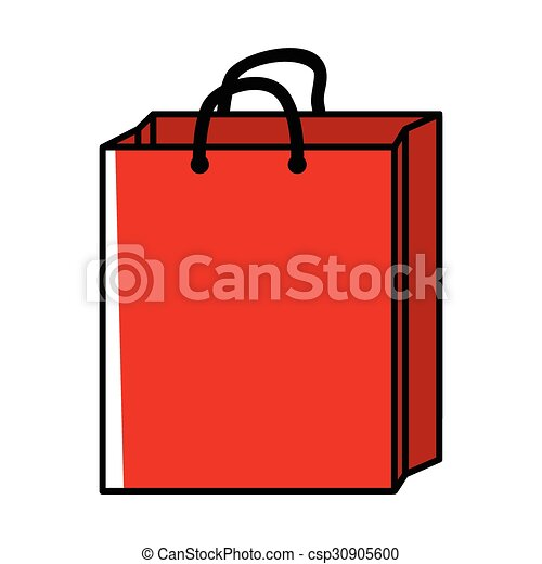 cartoon illustration of a shopping bag vector clipart search rh canstockphoto com shopping bag vector image shopping bag vector icon