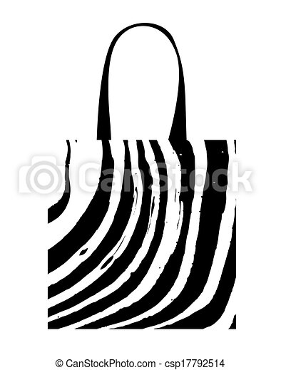 shopping bag with zebra print for your design vector clip art rh canstockphoto com zebra print background clipart zebra print numbers clipart