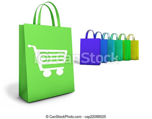 Shopping Bags Online E-Commerce - csp22088025