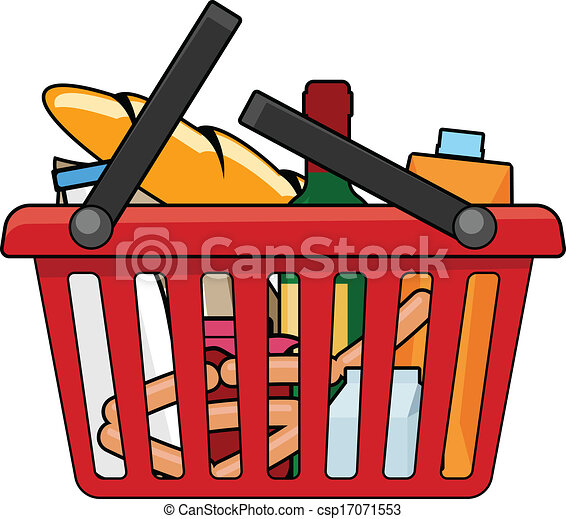 shopping basket with goods
