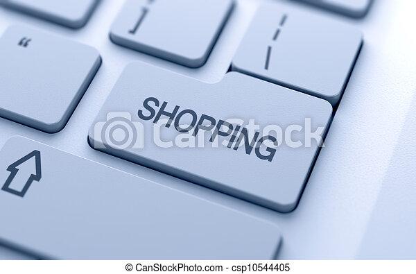 Shopping button - csp10544405
