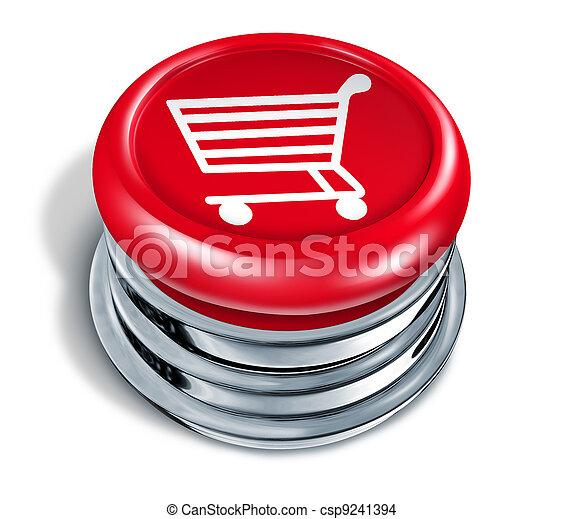 Shopping Button - csp9241394