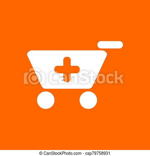 Shopping cart and background - csp79758931