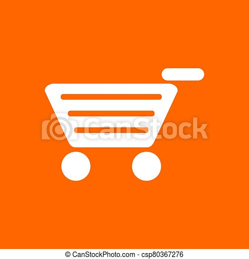 Shopping cart and background - csp80367276