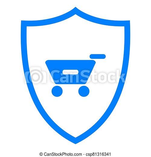 Shopping cart and shield - csp81316341