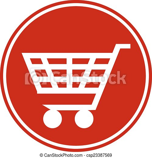 Shopping cart button - csp23387569