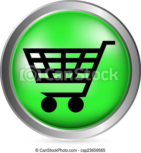 Shopping cart button - csp23659565