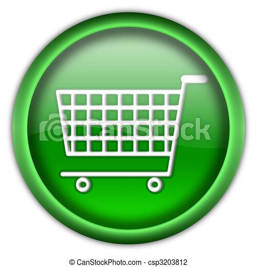 Shopping cart button - csp3203812