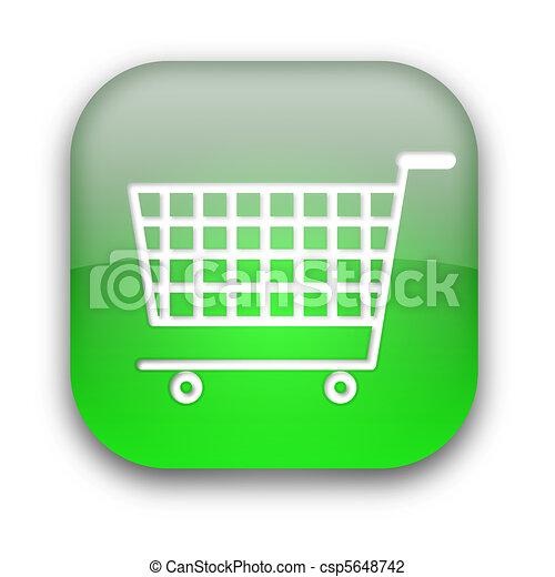 Shopping cart button - csp5648742